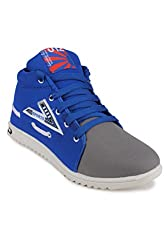 11E Mens High Neck Grey & Blue Casual Shoes-Size 6