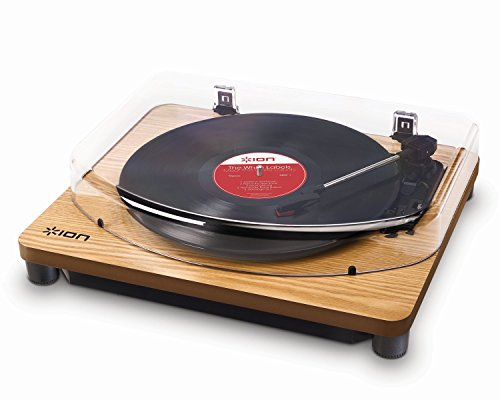 ION Audio Classic LP Wood   Vinyl Plattenspieler / Turntable und USB Digital Encoder - inkl. Converter Software (MAC/PC)