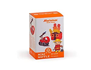 Marioinex 902523 Mini Waffle Fireman, tamaño Mediano, Multicolor