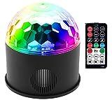 DiscoKugel,LED Discokugel Dj Licht Partylicht Disco Lichteffekte 9W 9 Farben sound aktiviert Bühnenbeleuchtung mit Bluetooth Sprecher Fernbedienung für Kinder Geburtstag Disco Club Weihnach