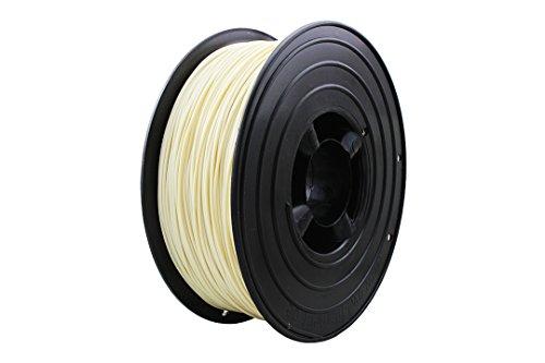 3D Filament 1kg B-Ware Filament Rolle in verschiedenen Farben Rot Gold Silber Grün Blau Braun Lila Violett Beige Transparent Gelb Orange Schwarz Weiß (Elfenbein (B-Ware))
