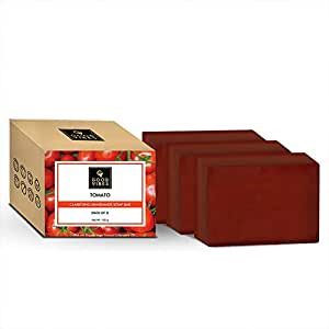Good Vibes Tomato Clarifying Handmade Soap Bar (Pack of 3) - 100g x 3