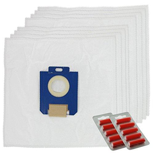 spares2go SMS Reinigungstuch Staub Staubbeutel für Electrolux Oxygen Staubsauger (8Stück + 10Lufterfrischer) -