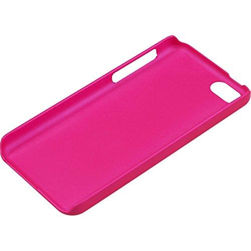 Hybridhülle für Apple iPhone 5c - mesh pink - Cover PhoneNatic Schutzhülle + 2 Schutzfolien Pink