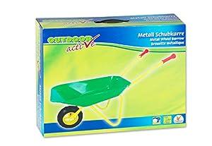 The Toy Company 13387  - Carretilla de metal de juguete color verde-amarillo Importado de Alemania