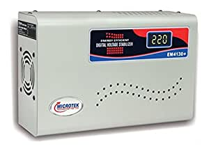 Microtek EM4130(+) 130V-300V Digital Display Voltage Stabilizer (Grey)