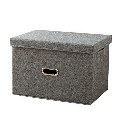 Nicetruc Faltender Aufbewahrungsbehälter Haushalts-Speicher-Korb Fabric Design Cube Lagerplätze Multi-Funktions-Speicher-Box zusammenklappbare Lagerbehälter Organizer für Heim Grau S