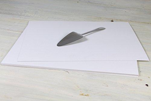 Hobbybäcker Tortenunterlage für Kuchen & Torten | beschichtete Pappunterlage, rechteckig, 42 x 32 cm, 10 Stück
