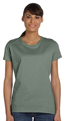 Fruit of the Loom s Women'HDTM Heavy Cotton T-Shirt Grün - Sagestone