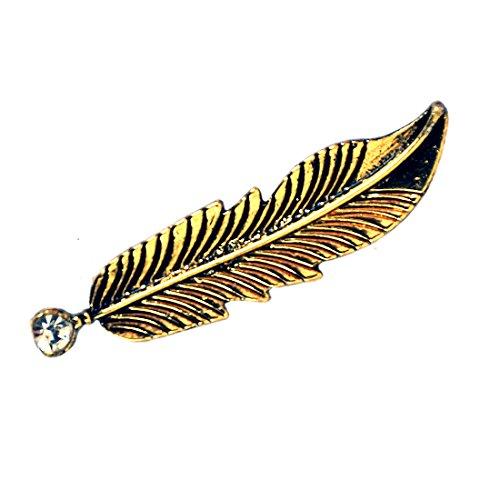 Chooz Designer Studio Gold Leaf Single Stone Pin Brooch Pin Brooch Design...