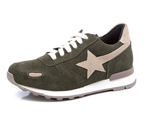 Les Chaussures Plates Des Femmes Les Chaussures De Course Augmentées Des Femmes Tombent Des Chaussures De Sport, Chaussures De Sport Des Femmes Vertes