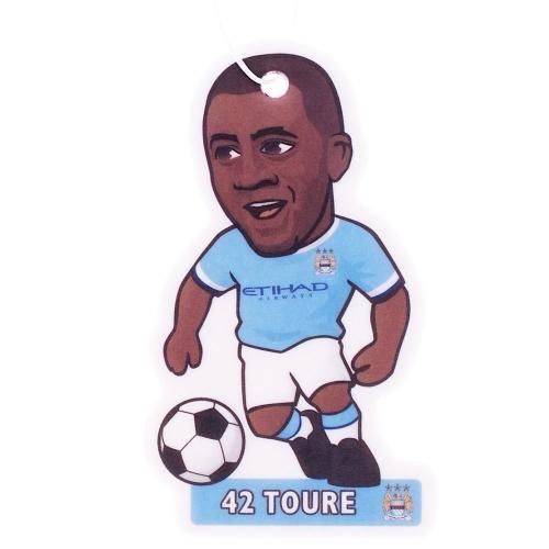 Duftbaum / Lufterfrischer in Fußballspieler-Form, Yaya Toure Manchester City FC (Einheitsgröße) (Hellblau/Weiß) Manchester City Yaya Toure