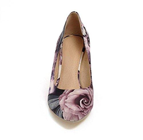 OL Pumpen Büros Wedge Stilett High Heel Runde-Toe Frauen Casual Hochzeit Comfortbale Schuhe Europa Größe innerhalb Biger Größe 33-43 suit