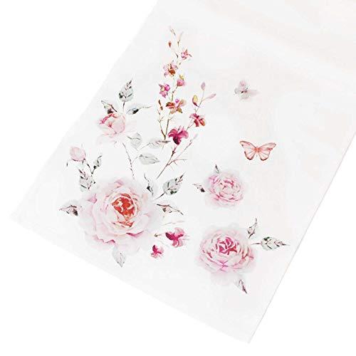 SIDCO Tischläufer Schmetterling Tischdecke Tischtuch Tischband Läufer rosa 40 x 140 cm