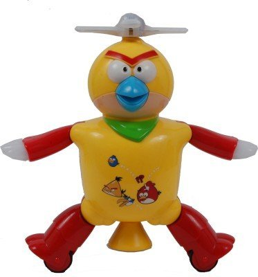 Dancing Angry Bird Robot Flashing Lights Music Rotating Step Movements (Color May Vary)