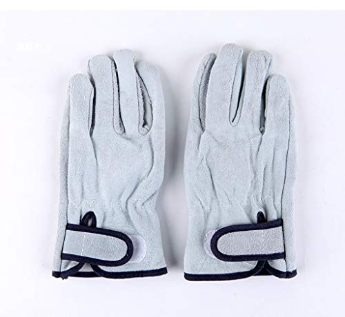 Gants isolants, épais gants antidérapants à cinq doigts, résistants à l'usure et à haute température, appropriés pour l'extérieur, la construction, le barbecue