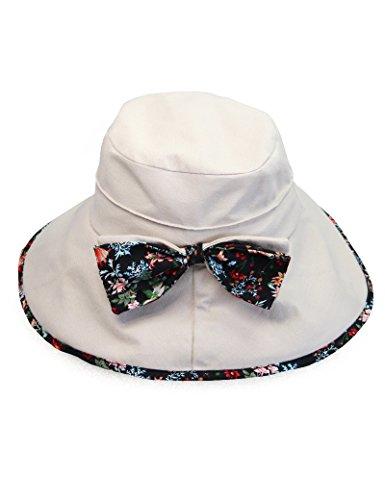 Chapeau de soleil de chapeau de soleil de tissu d'été de femmes Chapeau de vélo anti-UV pliable de plage de chapeaux ( couleur : 1 ) 4
