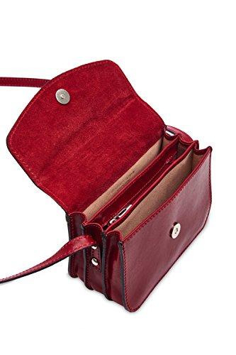 Montte Di Jinne, Borsa a tracolla donna Rosso Red Light Chocolate