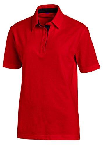 clinicfashion Polo-Shirt Unisex rot für Damen und Herren, Baumwolle Stretch, Größe XS-XXXL Rot