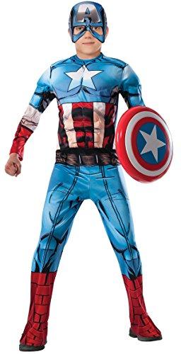 Avengers - Disfraz de Capitan America Premium para niño, 3-4 años (Rubies 620021-S)