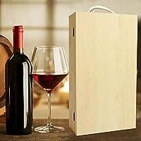 Outtybrave - Caja de Madera para Dos Botellas de Vino, Caja de Regalo Personalizada,