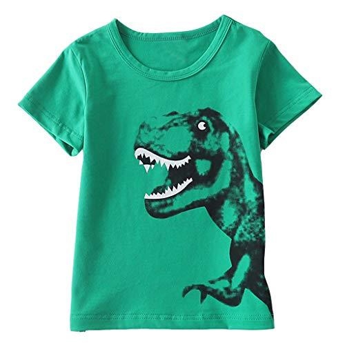 squarex Kleinkind Kinder Baby Jungen Mädchen Kinder Kurzarm Cartoon Dinosaurier Druck T-Shirt Top Bluse Komfortable ()