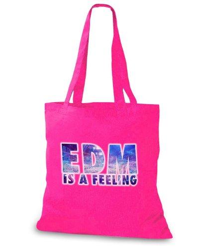 StyloBags Jutebeutel / Tasche EDM is a Feeling Pink