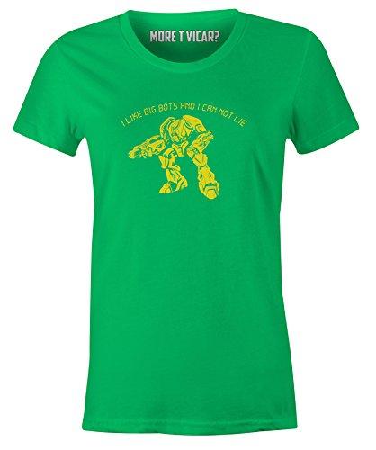 Ich mag große Bots und ich kann nicht - Damen-T-Shirt Irisch Grün