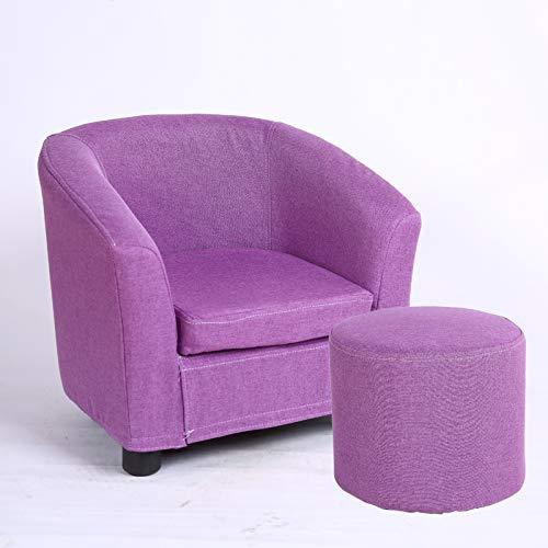 Kinder Sofa waschbar einzigen Mädchen niedlich Baby Sofa Cartoon junge faul kleine Sofa Kindersitz, lila + Hocker abnehmbar und waschbar