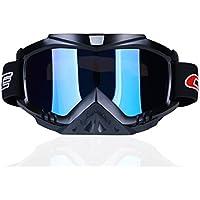 madbike Motocicleta motocross gafas Deportes al aire libre Dirt Bike ATV MX Off-Road Goggles (blue)