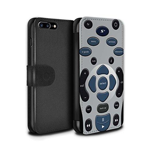 STUFF4 PU-Leder Hülle/Case/Tasche/Cover für Apple iPhone 8 Plus / Tastatur Muster / Schaltfläche/Tasten Kollektion Fernbedienung