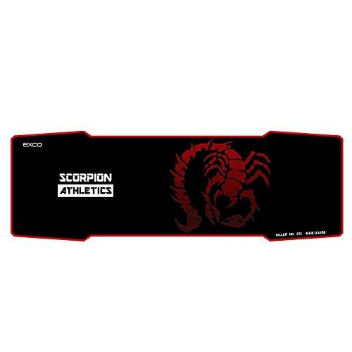 Roter Skorpion - EXCO Extra Verlängert Gaming Mauspad , 90 x 30 cm x 5 mm dick , Groß Maus Matte mit Glatt Oberfläche und Präzise Tracking ( Schwarz )