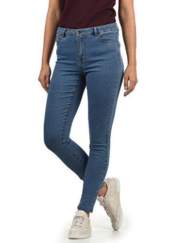 VERO MODA Jenna Damen Jeans Denim Hose Strech Mid-Rise Skinny Fit, Größe:M/ L30, Farbe:Medium Blue