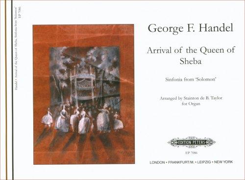 Preisvergleich Produktbild Ankunft der Koenigin Von Saba (Salomon). Orgel