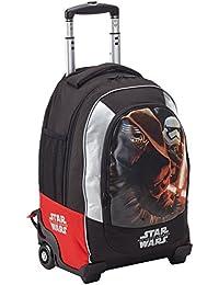 f3b107ac7b Star Wars Zaino Trolley Scuola Estensibile con Spada in Omaggio Zainetto  per bambini, Poliestere,