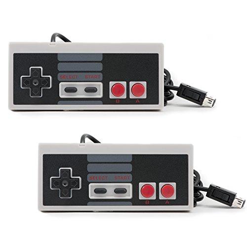 QUMOX 2X Gamepad Controller para Nintendo NES Classic Mini NES Joypad Cable 1,8 Metro