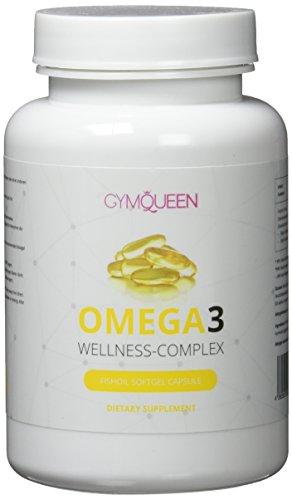 Premium Omega 3 Kapseln hochdosiert   gesunde Fisch-Öl Kapseln aus essentiellen Fettsäuren und Lebertran   gut verträglich und reich an EPA & DHA   Immunsystem stärken mit Gym Queen Omega – 60 Caps