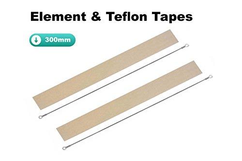 5x Impulse Heat SIEGLER Element und Teflon Strip Ersatzteile Kit für 200mm 300mm 400mm