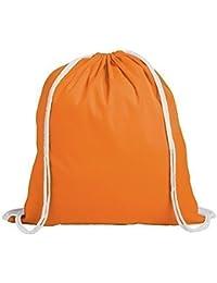 eBuyGB Pack für 10 Kinder Baumwolle Tunnelzug Rucksack - Fitnessstudio, Schwimmen, Sport, PE, Buch Tasche