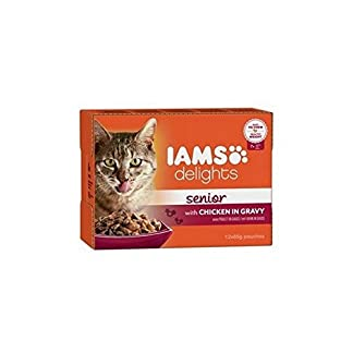 Iams Delights Senior Cat Food in Gravy 12 x 85g 7