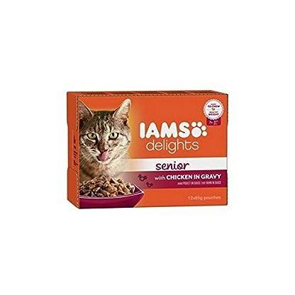 Iams Delights Senior Cat Food in Gravy 12 x 85g 1
