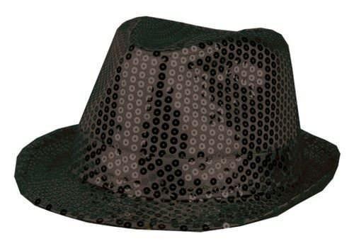 Chapeau-tendance - Chapeau Trilby Paillettes Noires - - Mixte