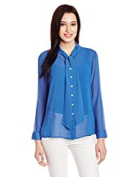 AND Womens Button Down Shirt (AW15V109-T-180_Blue_10)