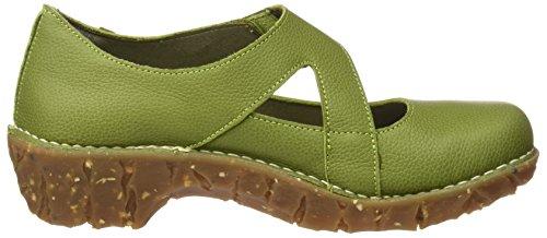El Naturalista Ng51 Soft Grain Yggdrasil, Escarpins à Bout Fermé Femme Vert (Green)