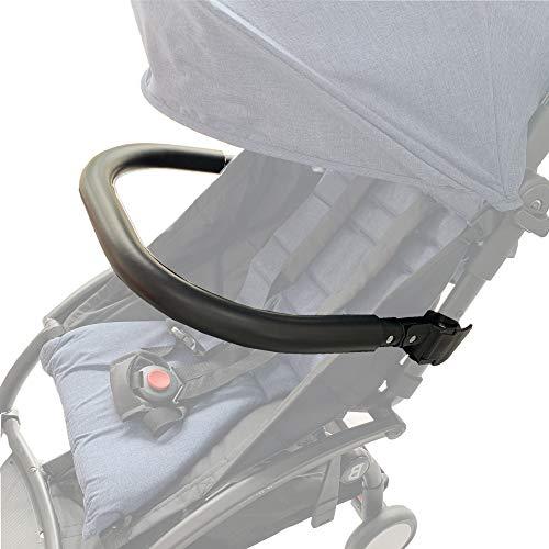 Paracolpi per passeggini. Bracciolo in silicone nero adatto per Baby Yoyo/Bee. (Nero-Silicone)