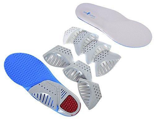 Sole Control Kostüm Orthopädische Einlagen, 4 variable senkfußeinlagen, Gel ferse, Pronation, flach feet, senkfüße (L 33-47) (Pronation)