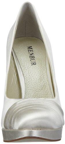 MENBUR Flandes 04469, Scarpe con tacco da sposa Avorio (Elfenbein/Ivory)