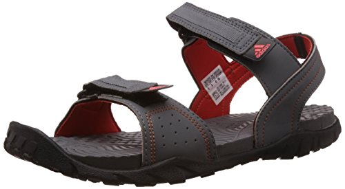adidas Men's Aron Grey, Orange and Black Athletic & Outdoor Sandals - 7 UK  available at amazon for Rs.1932