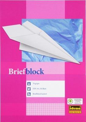 Idena Briefblock DIN A4, 50 Blatt, 70g (2er Set, kariert)