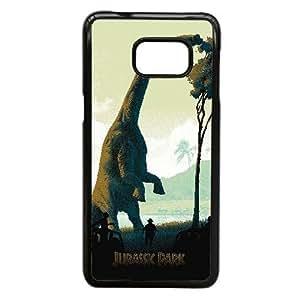 Samsung Galaxy Note 5 Edge Case,Custom Cell Phone Case for Samsung Galaxy Note 5 Edge [Black] Jurassic Park [Theme] LD8217